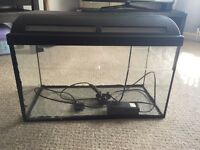 Marina 60x30 Fish Tank Aquarium 60 litre with sponge filter