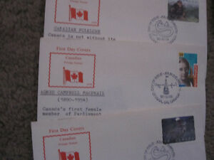 Assorted-- Canada FDC Postage Stamps 1980's/1990's--MINT
