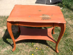 Antique Sawn Oak Library Table made by Wolverine Mfg