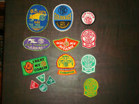VINTAGE YBC BOWLING / SWIMMING / SOCCER / BASEBALL PATCHES * 80s
