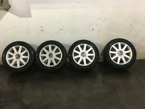 2011 Volkswagen snow tires on rims