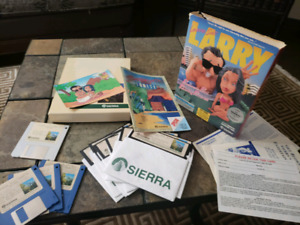 Vintage 1989 LEISURE SUIT LARRY 2 & 3 computer game IBM MS-DOS