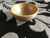 Large wooden fruit bowl