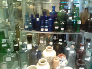 Antique bottles of all types
