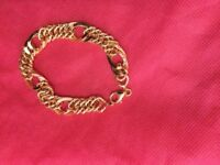 Real 18 carat yellow gold chain bracelet