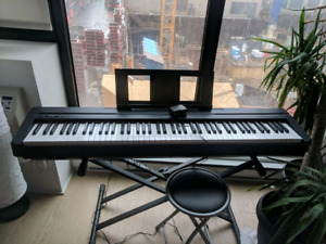 Yamaha P45 Weighted Piano Keyboard & Stand $750 obo
