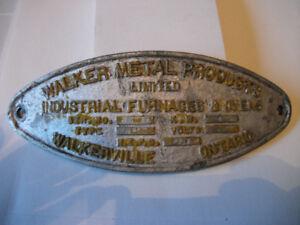 WALKER METAL PRODUCTS ONTARIO CANADA SIGN