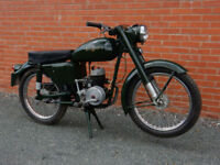 EXCELSIOR UNIVERSAL U9 1955 150cc LONG MOT WITH ORIGINAL MANUAL