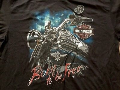 Harley Davidson  Born to be Free black Shirt Nwt Men's 4XL