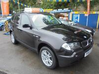 2006 56 BMW X3 2.0 D SE 4X4 IN BLACK # BLACK LEATHER TRIM #