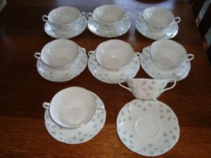 ROYAL ALBERT CREAM SOUP BOWLS AND UNDER DISHES