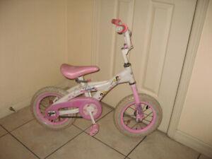 "12"" wheels  Girls BMX Bikes, no Training Wheels"