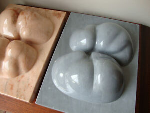 Contemporary Modern Abstract Marble Sculptures Amalia Schulthess