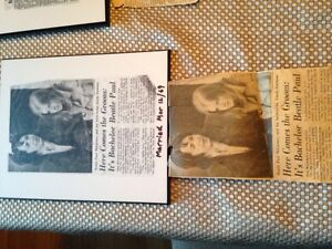 Beatles newspaper clippings Kitchener / Waterloo Kitchener Area image 1