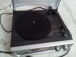 usb turntable and old dance/freestyle records.