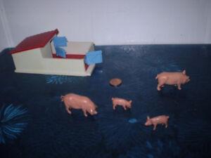 Britains Models Farm Pig Sty.