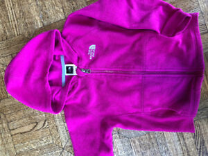 NORTH FACE Girls Pink Zipped Fleece Size 4T EXCELLENT CONDITION