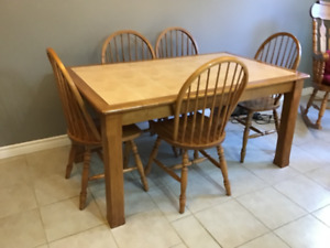 Large Kitchen table and Bass River chairs for sale