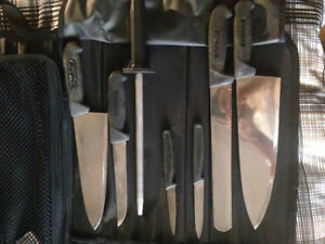 Professional Grade Nella Knife set with carrying case.
