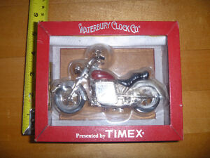 MOTORCYCLE CLOCK TIMEX COLLECTOR NEW