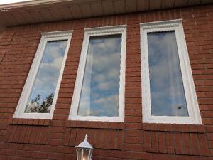 Casement Hung Vinyl Window Sliding  Energy saving