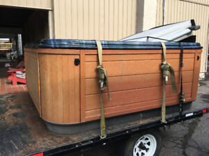 Hot tub moving and disposal both new or used we move them all