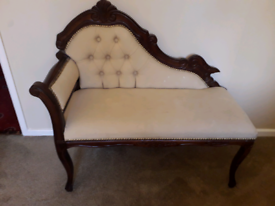 Vintage chaise lounge/ telephone chair