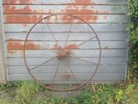 Cast iron cart wheel