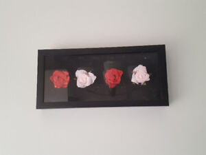 Wall Hanger/Decorative Frame/3D/Art/ Flowers in Shadow Box