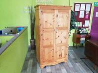 Large Pine Wardrobe - Can Deliver For £19