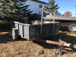 Lawn care or snow removal trailer