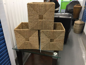 3 Wicker boxes