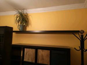 LACK black wall shelf