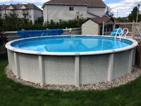 24 ft, High Quality Full Resin Above Ground Salt Water Pool