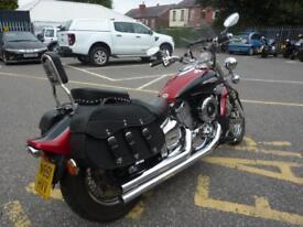 Yamaha XVS1100 V-STAR 2 tone red/blk 14833miles VGC Cobra Pipes panniers