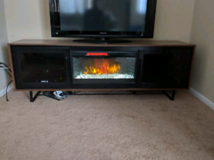 Modern TV stand with Electric Fireplace