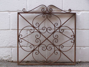 Antique Hand Forged Wrought Iron Gate