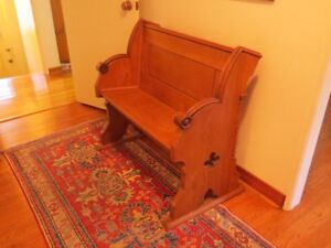 small wooden church pew