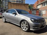 Mercedes c250cdi sport amg line auto blue efficiency (c200 c220 c350 m3 c class coupe)