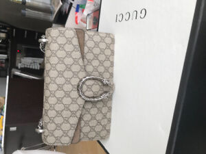 09c70688718 Gucci Dionysus GG supreme small coated canvas   suede bag