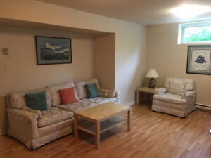 Furnished one-bedroom basement suite $900/month