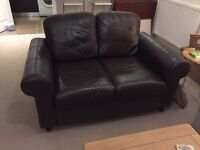 Ikea 2 seater leather sofa
