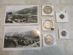 1945 COLOURED PICS OF TRAIL BC plus coins retails $55