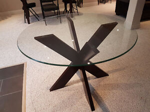 GLASS TOP DINING TABLE FROM PIER 1 IMPORTS