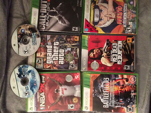 Xbox360 with 8 games