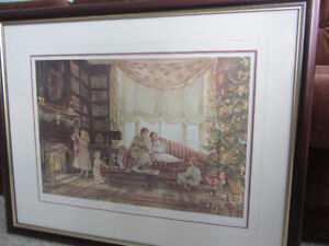 "Framed Ltd. Edition Print - Trisha Romance - ""Christmas Morning"""