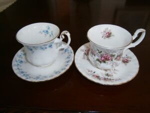 TWO ROYAL ALBERT DEMI-TASSE CUP AND SAUCER SETS