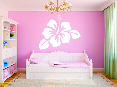 LARGE HIBISCUS FLOWER Girls Home Vinyl Wall Decal Bedroom Graphics Sticker Decor - Hibiscus Home Decor