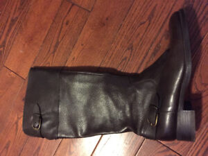 Aldo chocolate brown leather tall boots