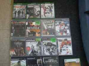 Xbox one, xbox 360, xbox, Ps3, ps2, PC games. prices below.